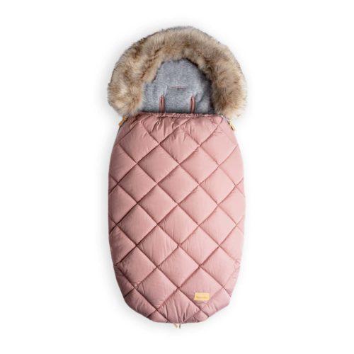 śpiworek do wózka zimowy różowy
