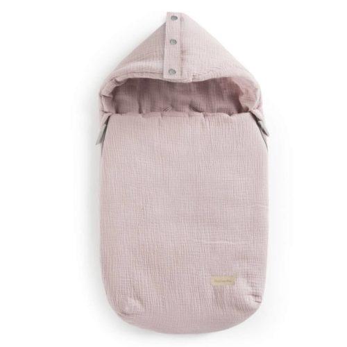 śpiworek różowy muślinowy dla dziecka