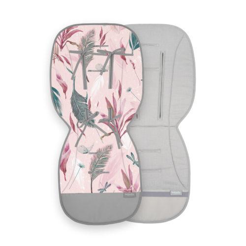 Wkładka do wózka różowa